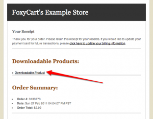 Downloadable product links on the email receipt